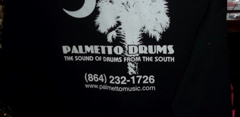 Palmetto Drum tee shirts for Sale –  this is the back – L, XL & XXL!
